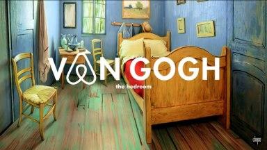 Réplica da pintura do quarto do consagrado pintor Van Gogh na campanha Van Gogh Bnb.
