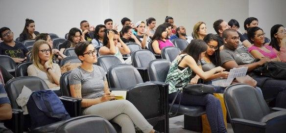 Auditório Morumbi ficou lotado, com alunos interessados nas dicas sobre como fazer um comercial criativo e de sucesso.
