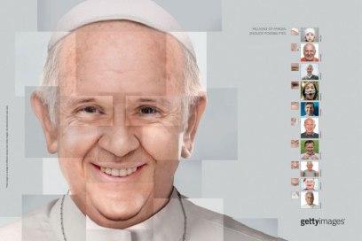 Endless possibilities trouxe uma inusitada imagem do Papa Francisco, feita a partir da colagem de partes de várias faces.