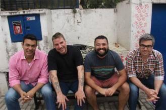 Os professores Claudio Sá Rodrigo Matiskei Bruno Maia e Hugo Martinelli comandaram apresentações musicais