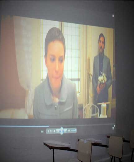 Hotel Chevalier: a atriz Natalie Portman em cena  com Jason Schwartzman (esq.)  Crédito: Jeferson Santiago
