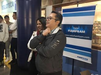 A Diretora do FIAMFAAM, Simone Espinosa, e o Coordenador do Curso de RTV, Fernando Leme.