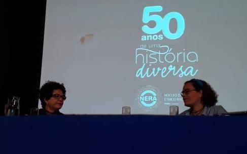 A filósofa e psicanalista Viviane Mosé (esquerda) e a economista Eduarda La Rocque (crédito: Carla Tôzo)