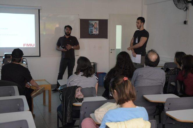 Apresentações dos alunos durante o Simpósio. (crédito: Eduardo Batista)