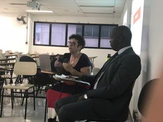 (da esq. para dir. )professora de História da FMU Maria Cecília Martinez; o advogado Robson de Oliveira e a diretora da Ação Educativa,