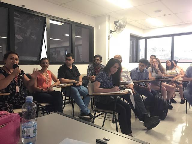 "Alunos e professores participam da mesa ""Igualdade Racial e Ensino antirracista"" crédito: NERA"