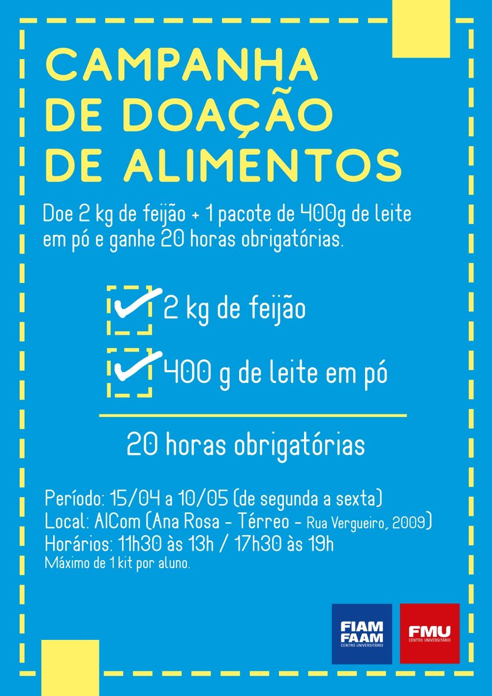 campanha doacao alimentos Ana Rosa
