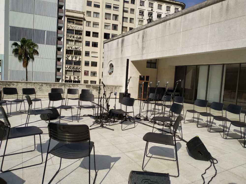 Vista da varanda, onde acontecem shows e saraus credit Verônica Andrade e Gabriela Barbosa