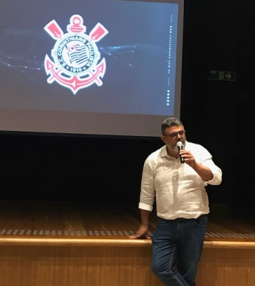 Tiago Oliveira, gerente de comunicação do Corinthians (crédito: AICom)