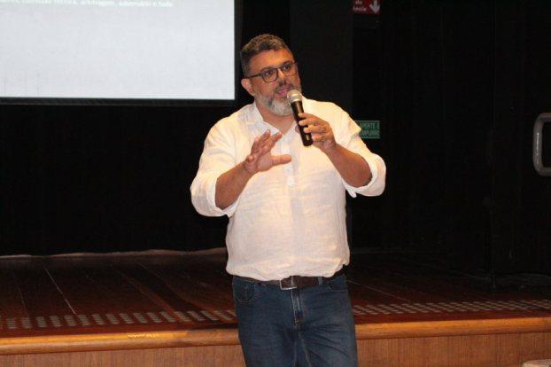 Tiago Oliveira, gerente de comunicação do Corinthians (crédito: Barbara Cocurullo)